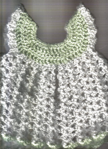Free Crochet Pattern For Baby Angel Wings : Angel Wings Pinafore