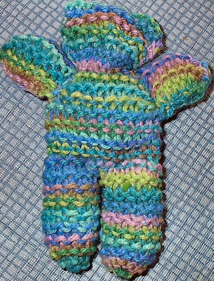 knitted bear pair pattern