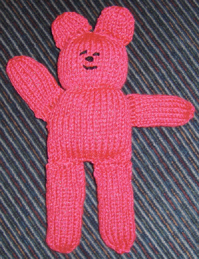 Bev's knitted bear pattern