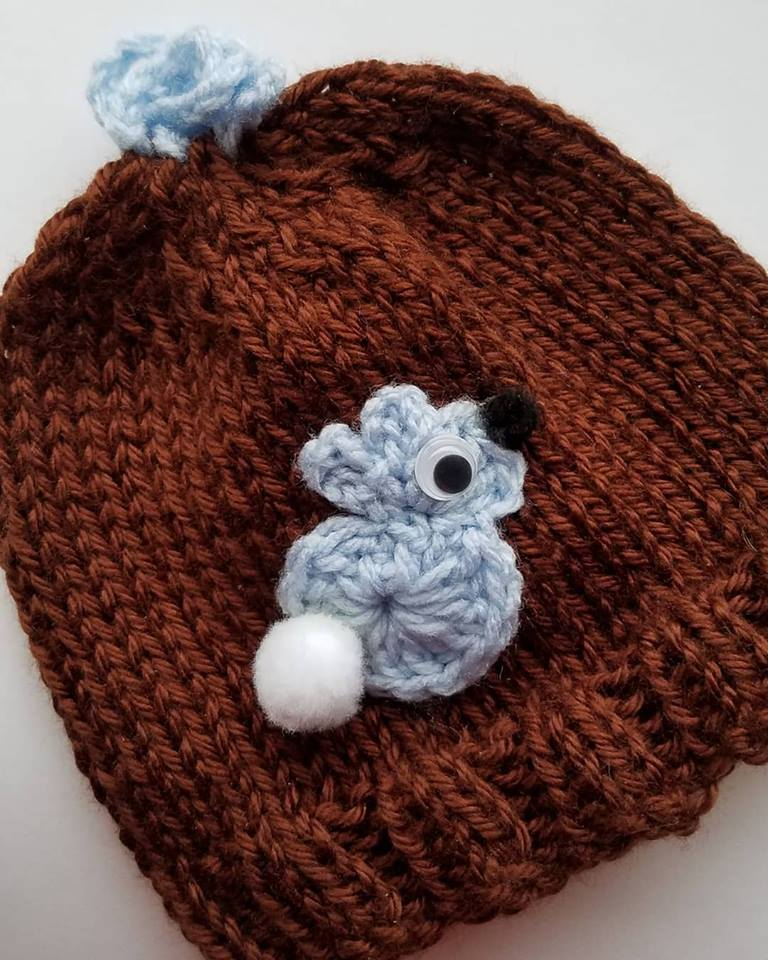 bunny hat brown