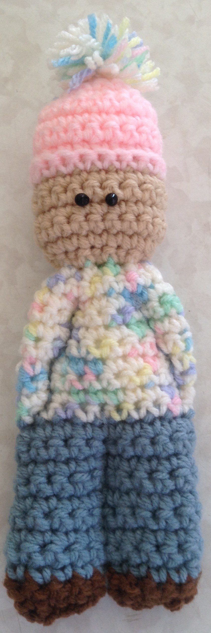 crocheted kaiizen doll