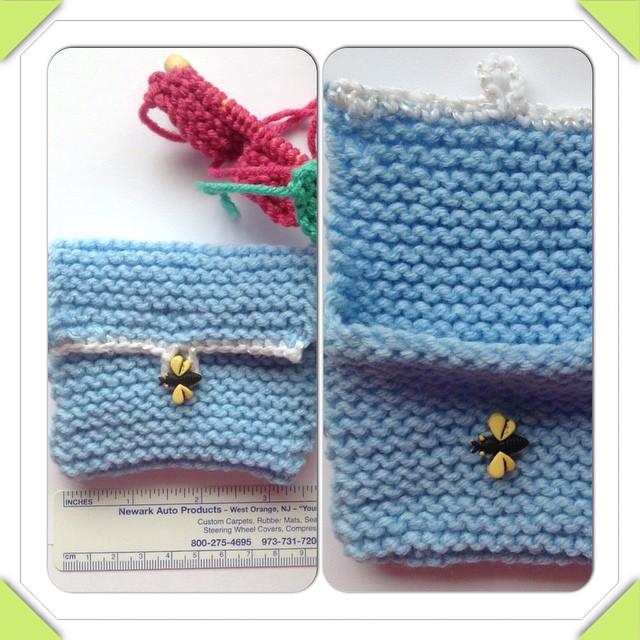 hearing aid pouches, knitted
