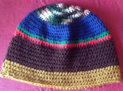 Join with sl st in the top of 1st hdc of previous row. Ch 2 (80 hdc) (large  men s hat measures 24