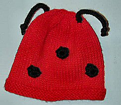 Preview This Free Knitting Pattern: Ladybug Hat for Baby