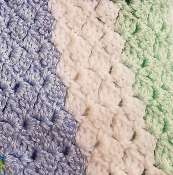 Crocheted laproabe/baby blanket pattern