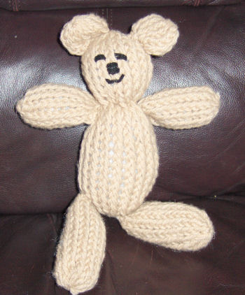Loomed teddy bear