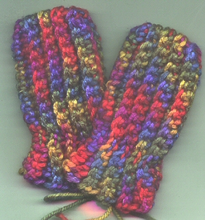 Crochet Baby Thumbless Mittens - YouTube