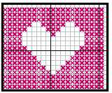 cross stitched heart for granny square