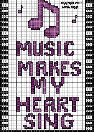 music cross stitch chart