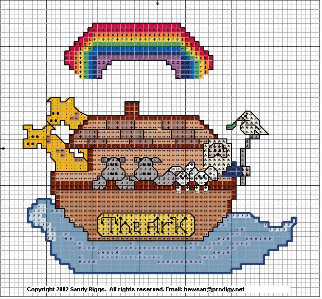 Noah's Ark Cross Stitch Pattern