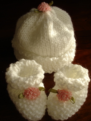 Michelle S Booties And Hat
