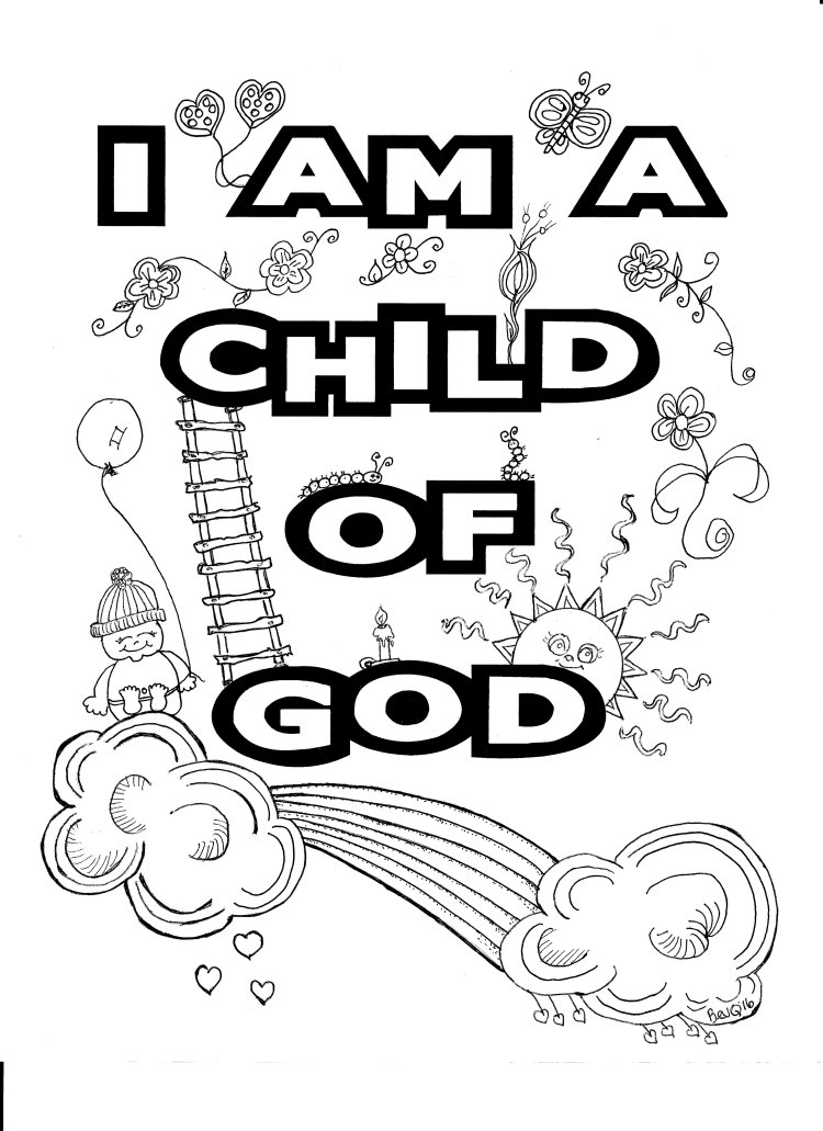 I am a Child of God coloring page