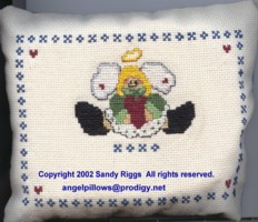 photo of angel pillow finished